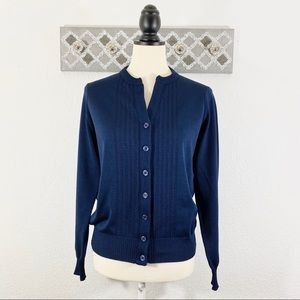 Vintage Givenchy Sport Cardigan Sweater Navy, 38